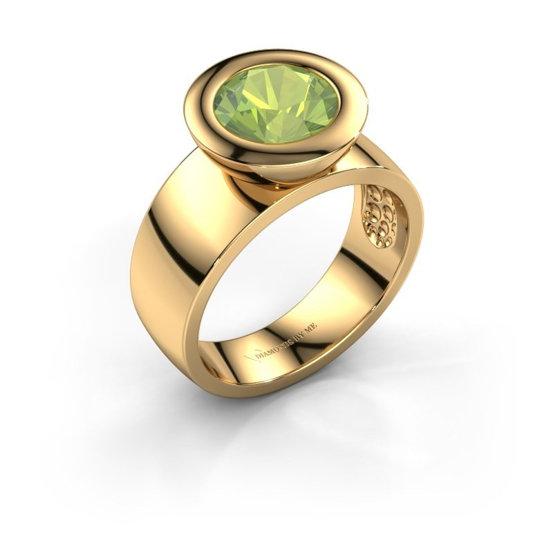 Ring Maxime 585 goud peridoot 8 mm