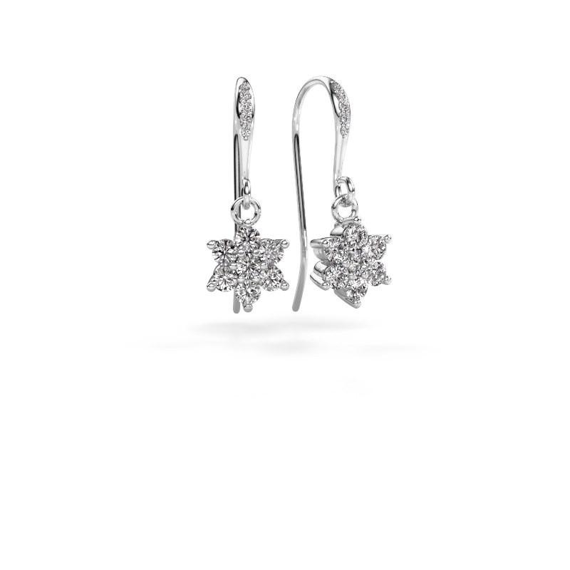 Oorhangers Dahlia 2 585 witgoud diamant 0.69 crt
