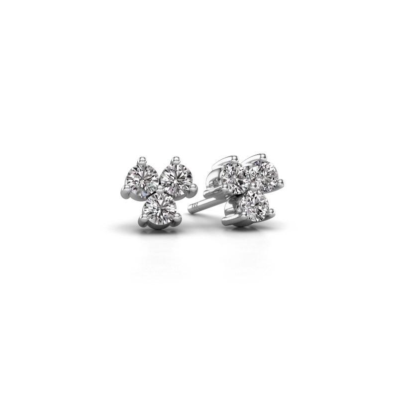 Oorstekers Shirlee 585 witgoud diamant 0.60 crt