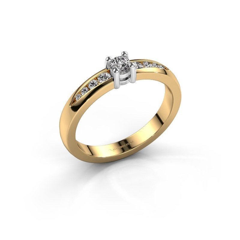 Verlovingsring Zohra 585 goud diamant 0.237 crt