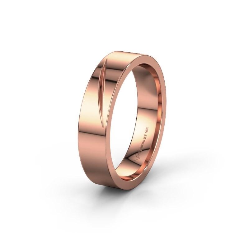 Trouwring WH0170M15A 585 rosé goud ±5x1.7 mm