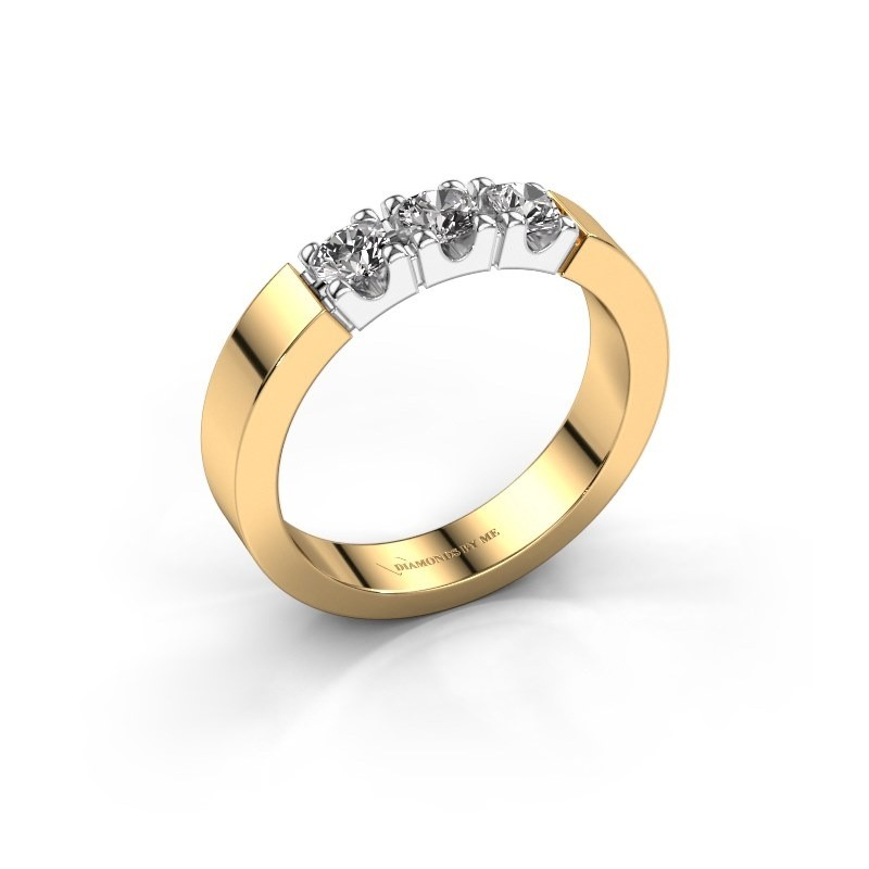 Verlovingsring Dana 3 585 goud diamant 0.450 crt
