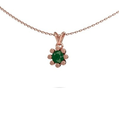 Picture of Pendant Carola 1 585 rose gold emerald 5 mm