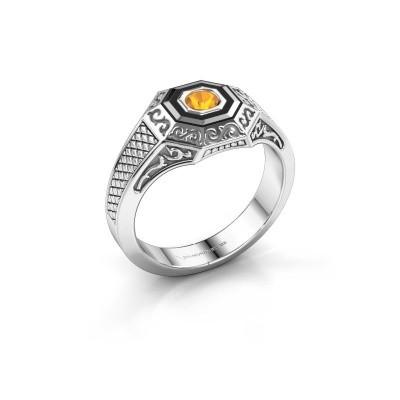 Foto van Heren ring Dion 375 witgoud citrien 4 mm