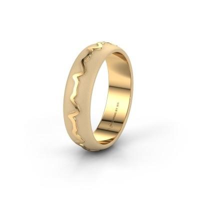Trouwring Heartbeat 1 585 goud ±5x1.7 mm