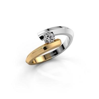 Foto van Ring Paulette 585 witgoud diamant 0.15 crt