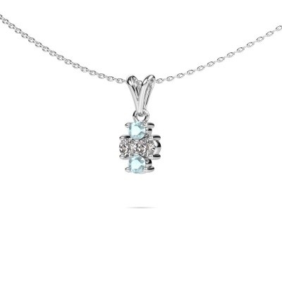 Picture of Necklace Richelle 585 white gold aquamarine 3 mm