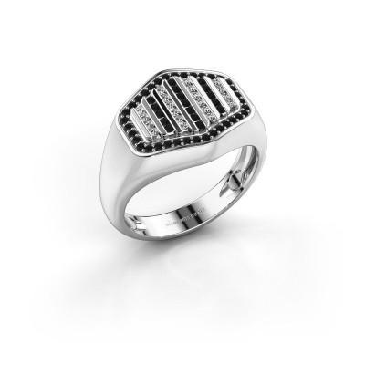 Foto van Heren ring Beau 585 witgoud zwarte diamant 0.444 crt