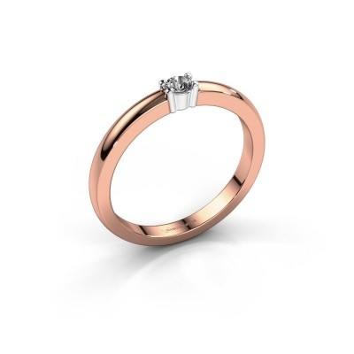 Foto van Promise ring Yasmin 1 585 rosé goud diamant 0.08 crt