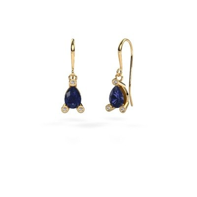 Picture of Drop earrings Bunny 1 585 gold sapphire 7x5 mm