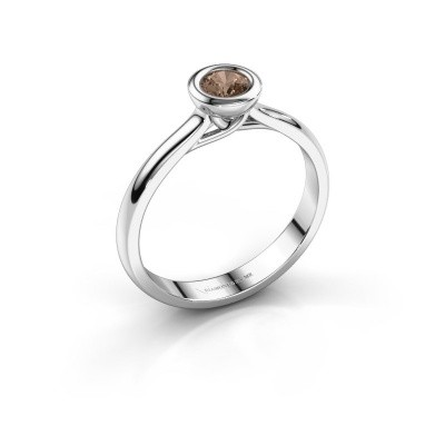 Foto van Verlovings ring Kaylee 925 zilver bruine diamant 0.25 crt