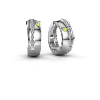 Picture of Hoop earrings Shakita 925 silver peridot 2 mm