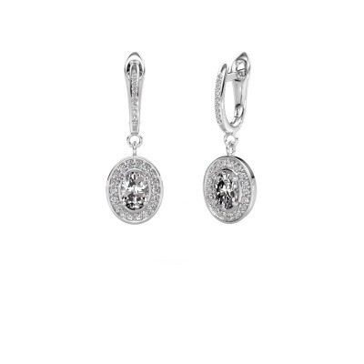 Picture of Drop earrings Layne 2 585 white gold diamond 1.99 crt