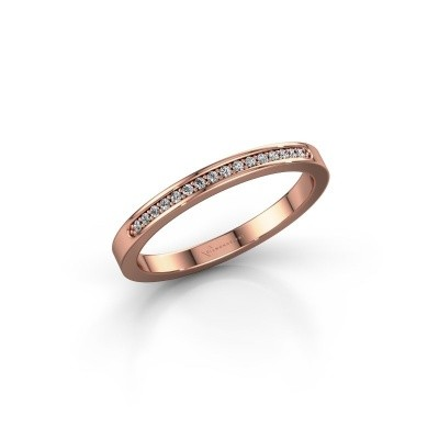 Foto van Aanschuifring SRJ0005B20H2 375 rosé goud diamant 0.08 crt