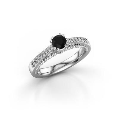 Bild von Verlobungsring Rozella 585 Weissgold Schwarz Diamant 0.578 crt