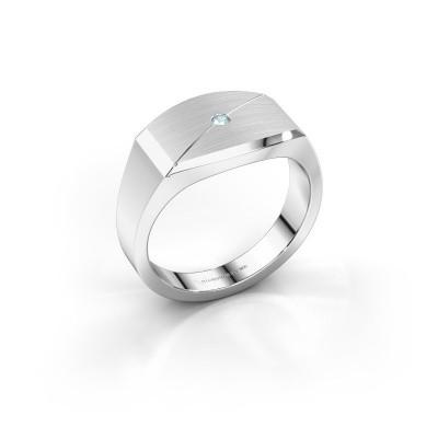 Foto van Heren ring Joe 5 925 zilver aquamarijn 2 mm