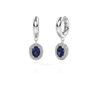 Picture of Drop earrings Annett 950 platinum sapphire 7x5 mm