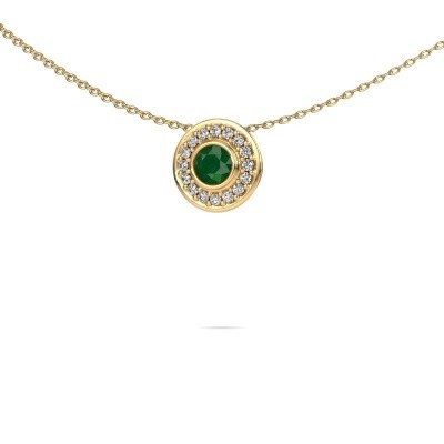 Picture of Necklace Gretta 585 gold emerald 4 mm