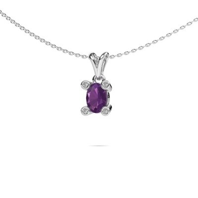 Picture of Necklace Cornelia Oval 950 platinum amethyst 7x5 mm
