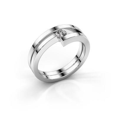 Foto van Ring Nikia 950 platina diamant 0.15 crt