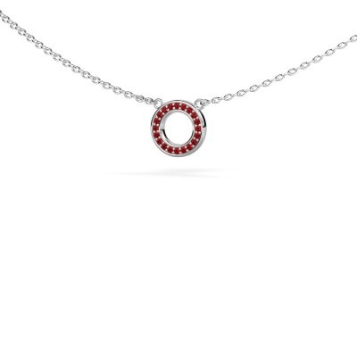 Picture of Pendant Round 2 585 white gold ruby 0.8 mm