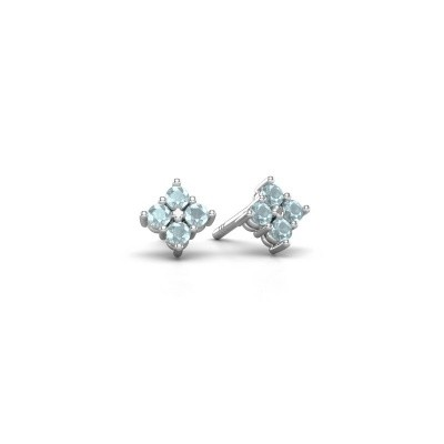 Picture of Stud earrings Maryetta 925 silver aquamarine 2 mm