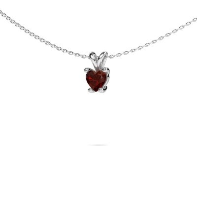 Picture of Necklace Sam Heart 950 platinum garnet 5 mm