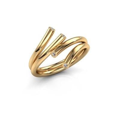 Bild von Ring Siewke 585 Gold Diamant 0.048 crt