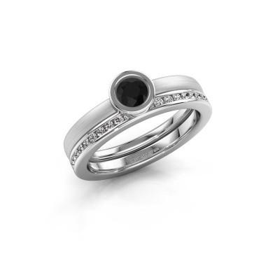 Bild von Ring Cara 585 Weissgold Schwarz Diamant 0.74 crt