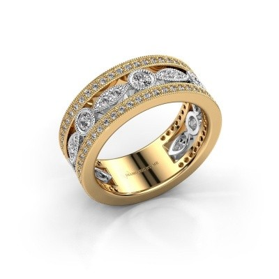 Foto van Ring Jessica 585 goud diamant 0.864 crt