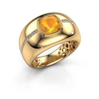 Foto van Ring Sydney 375 goud citrien 7.5 mm
