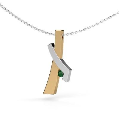 Picture of Pendant Alyssa 585 gold emerald 2.7 mm