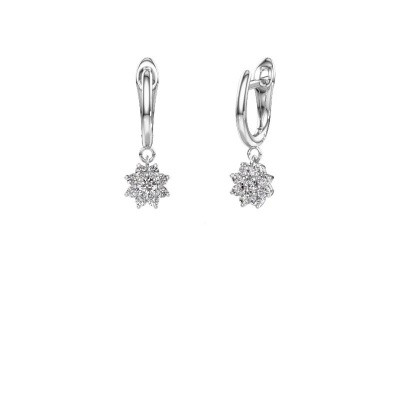 Picture of Drop earrings Camille 1 950 platinum zirconia 3 mm