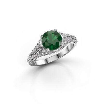 Picture of Ring Lovella 585 white gold emerald 7 mm