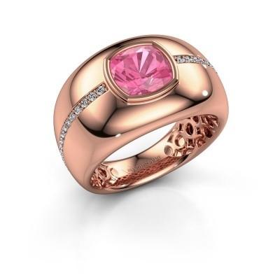 Foto van Ring Sydney 375 rosé goud roze saffier 7.5 mm
