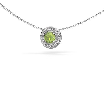Picture of Pendant Agaat 585 white gold peridot 5 mm