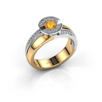 Foto van Ring Jeanet 2 585 goud citrien 4 mm