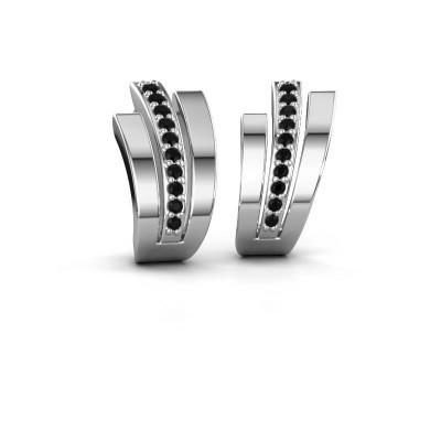 Picture of Earrings Emeline 925 silver black diamond 0.24 crt