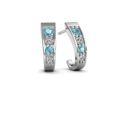 Picture of Earrings Glady 925 silver blue topaz 3 mm