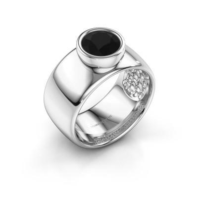 Foto van Ring Klarinda 925 zilver zwarte diamant 1.56 crt