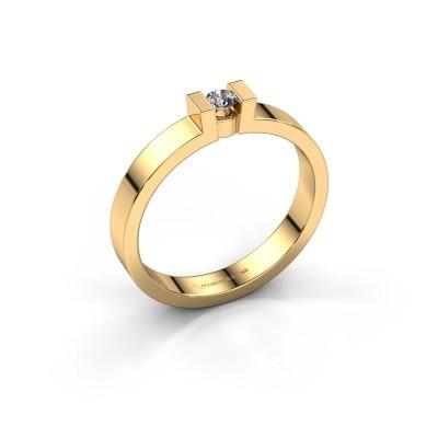 Foto van Verlovingsring Lieve 1 585 goud zirkonia 3 mm