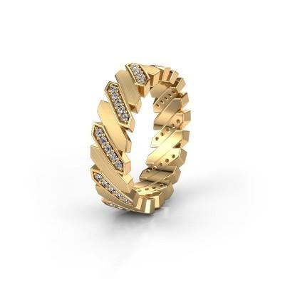 Huwelijksring WH2036M 585 goud diamant ±7x2.2 mm