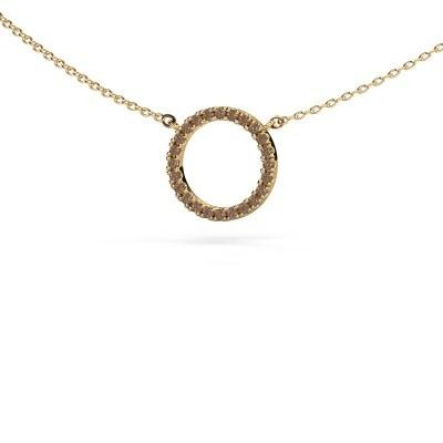 Bild von Anhänger Circle 585 Gold Braun Diamant 0.18 crt