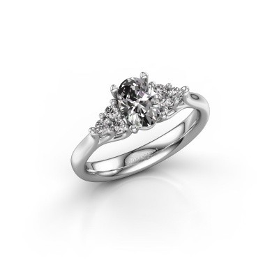 Foto van Verlovingsring Monika OVL 585 witgoud diamant 0.95 crt