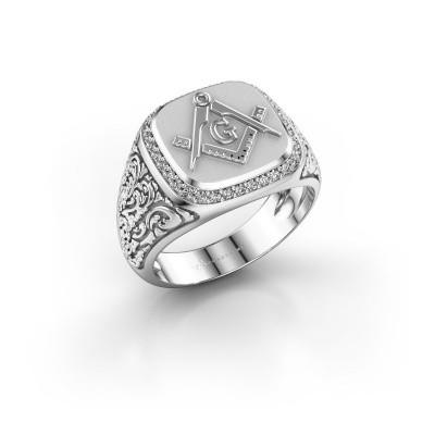 Foto van Herenring Hugo 925 zilver diamant 0.255 crt