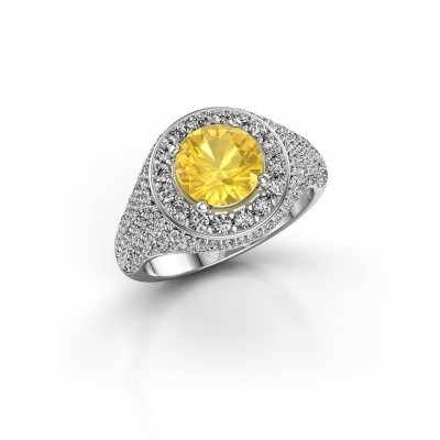 Picture of Ring Dayle 585 white gold yellow sapphire 7 mm