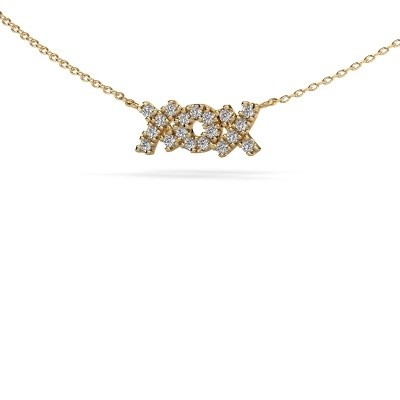 Picture of Necklace XoX 585 gold zirconia 1.5 mm