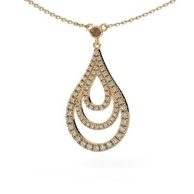 Bild von Anhänger Delpha 585 Gold Braun Diamant 0.487 crt