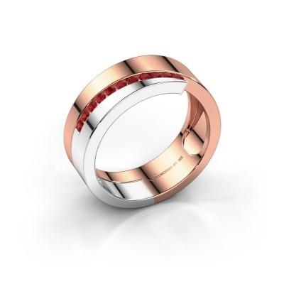 Foto van Ring Loma 585 rosé goud robijn 1.5 mm