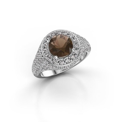 Foto van Ring Dayle 925 zilver rookkwarts 7 mm